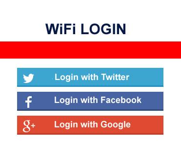 WiFi hotspot with facebook logiin